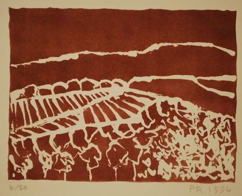 Lithographie Paul Ruegg: Rioja