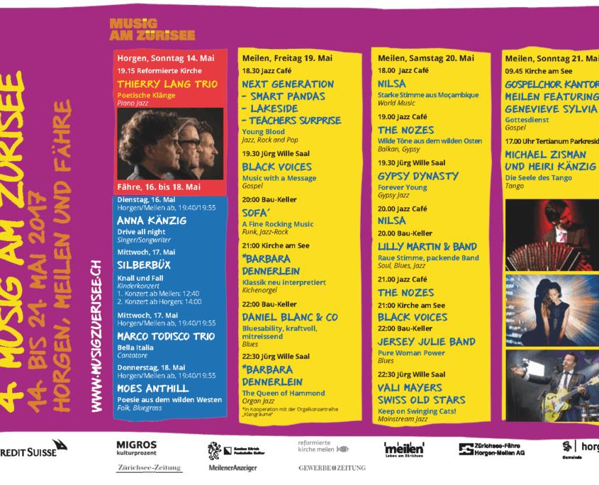 Programm Musig am Zürisee 2017