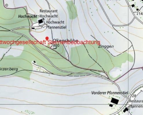 Kartenausschnitt - Standort Sternenbeobachtung